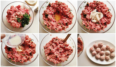 como aliñar la carne para albóndigas