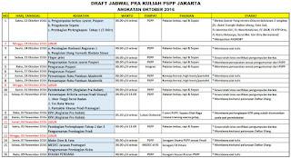 Jadwal Pra Kuliah PSPP Jakarta