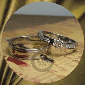 cincin emasputih perak P5726AS
