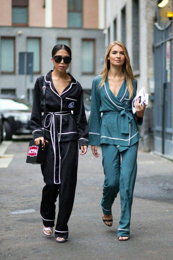 Sleep wear trend, 2016 trends, pajama trend, street style
