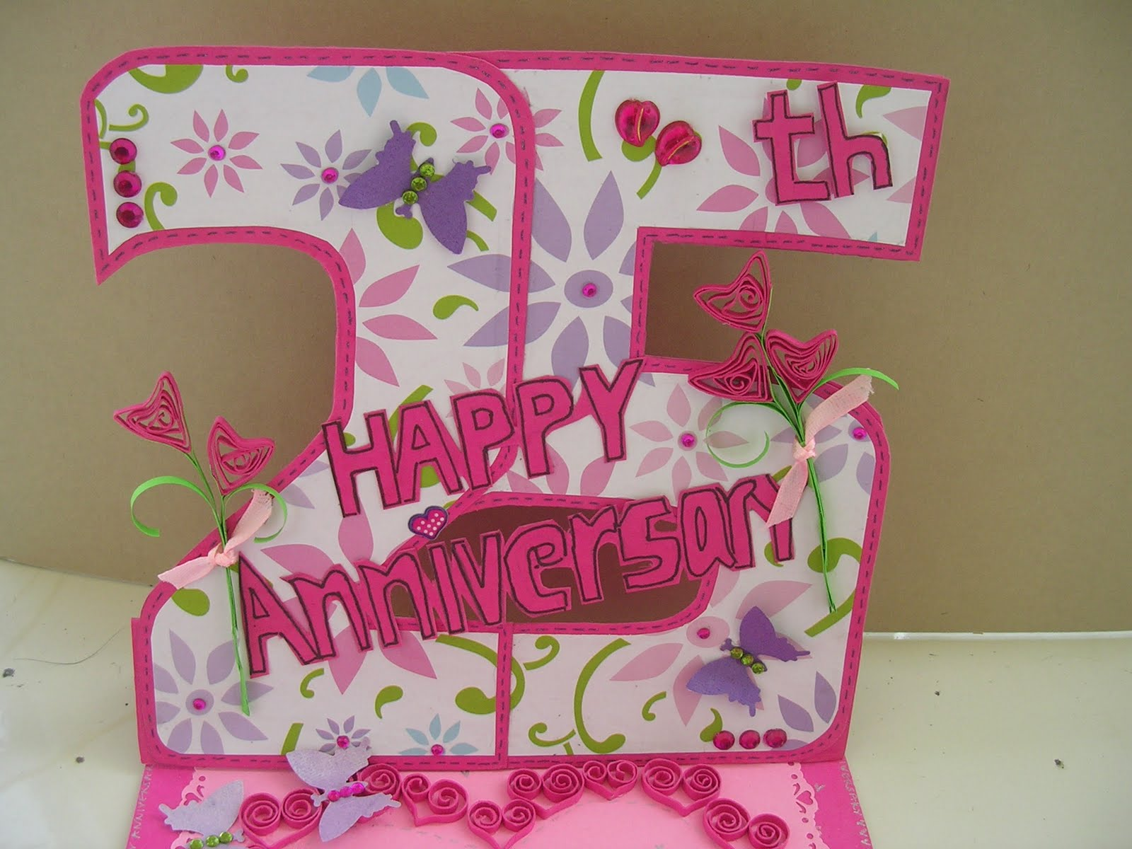 Vishesh collections handmade by deepti 25th anniversary card 25th anniversary card m4hsunfo