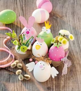 gusci delle uova per creare animaletti