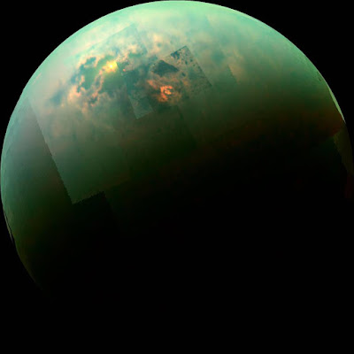 Liquid Methane Gas on Titan's