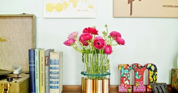Haz un florero moderno con vasos licoreros - Floreros modernos ...