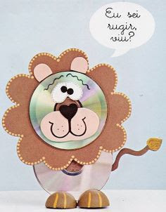 lion toy wall hanging best out of waste materials recycle cds