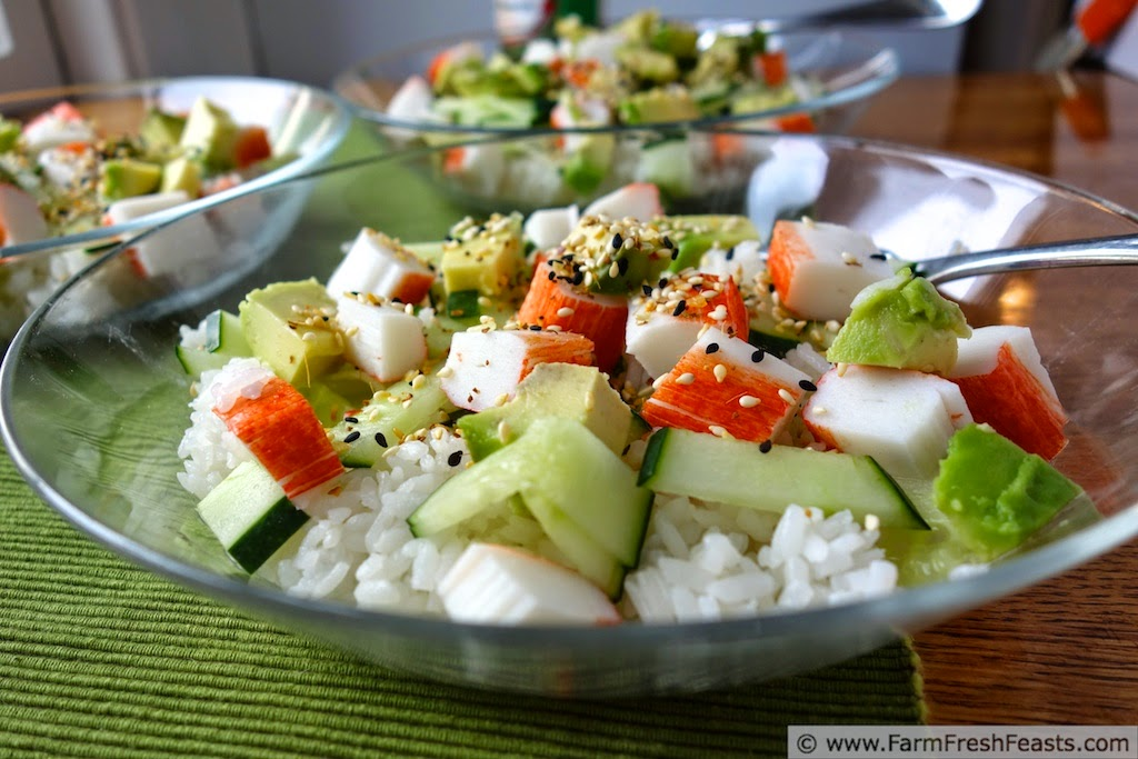 Surimi Chirashi Sushi with Summer Vegetables | Farm Fresh Feasts