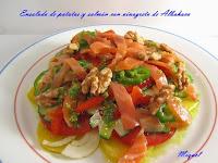 Ensalada de Patatas y Salmón con Vinagreta de Albahaca