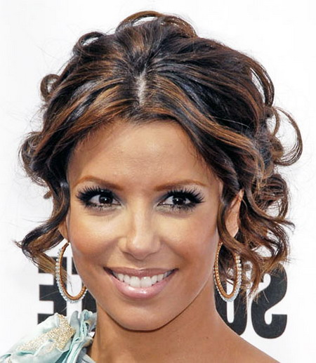 Eva Longoria Wedding Hair Style: The Different Styles Of Curly Hair Updos