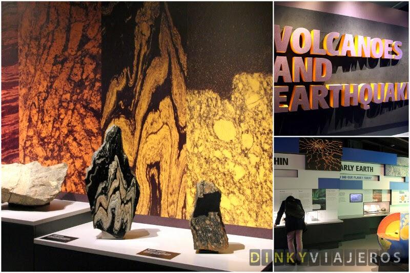 Museo de Historia Natural de Londres. Volcanes y Terremotos