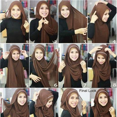 Tutorial Hijab Segi Empat Dalam Bahasa Inggris
