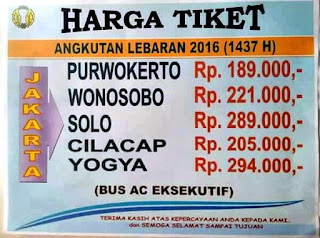 harga tiket bus damri lebaran 2016