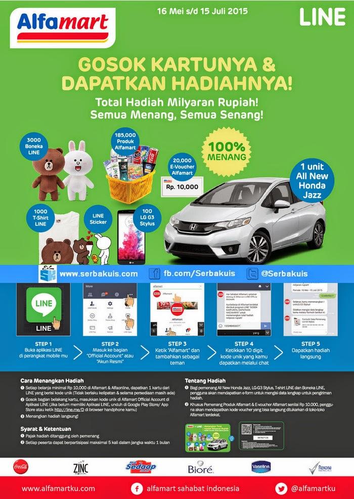 Promo LINE Alfamart Berhadiah Mobil All New Honda Jazz