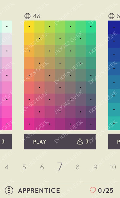 I Love Hue Apprentice Level 7 Solution, Cheats, Walkthrough