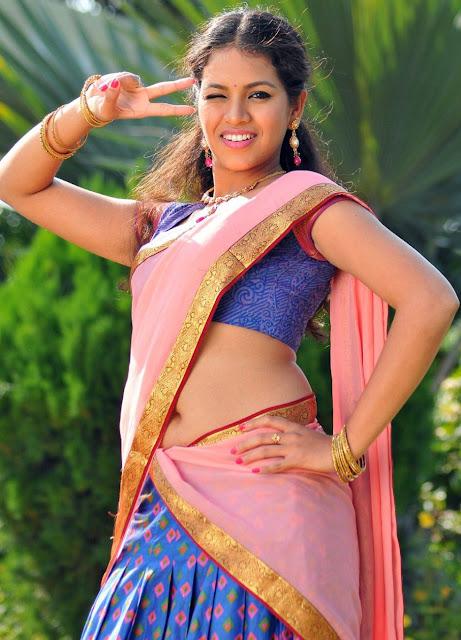 Telugu actress Gauthami Chaudhari hot images navel show