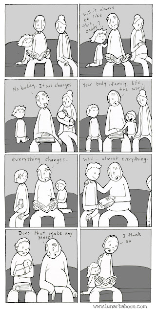 lunarbaboon, family, change, memories, comic strips