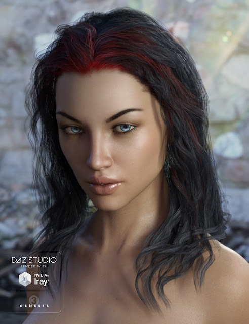 Ajax Hair Bundle for Genesis 3