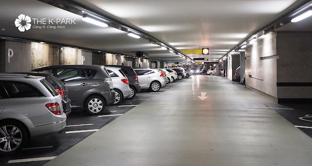 Tầng hầm đỗ xe thông thoáng tại The K-Park