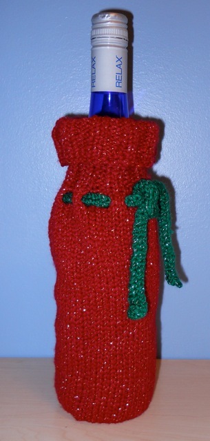 Knitting With Schnapps Happy Holiday Season Wine Bottle Sleeve Pattern