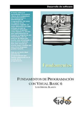 Fundamentos de programación con Visual Basic 6 – EIDOS