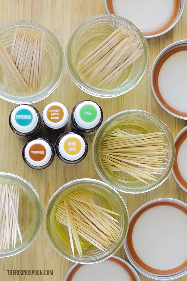 DIY Flavored Toothpicks with Essential Oils + Five Recipes