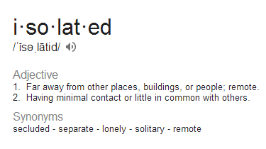 Image result for feeling isolated
