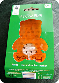 Hevea Natural Rubber Panda Teether Teething baby