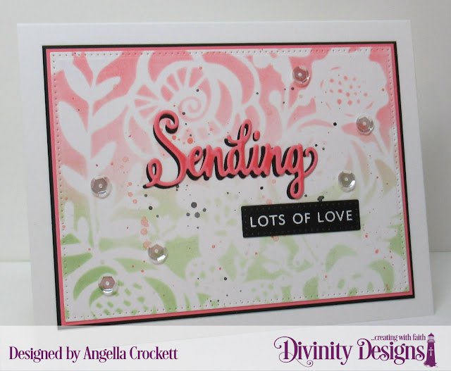 Divinity Designs: Sending My Love Stamp/Die Duos, Pierced Rectangles Dies, Card Designer Angie Crockett
