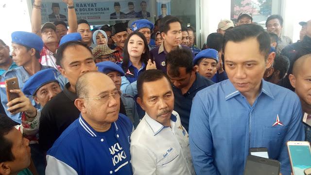 AHY Serukan Kemenangan Demokrat di Sumatera Selatan