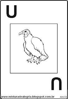 Baralho alfabético letra U