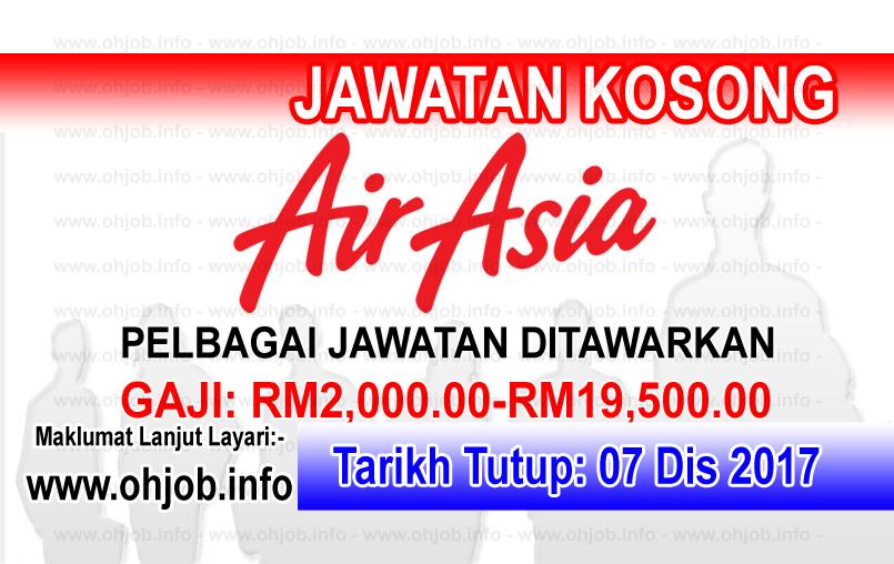 Jawatan Kerja Kosong AirAsia Berhad logo www.ohjob.info disember 2017