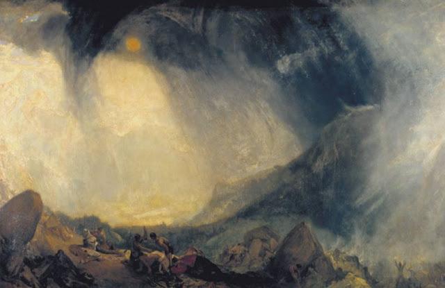 Anibal cruzando los Alpes con tormenta de nieve – W. Turner