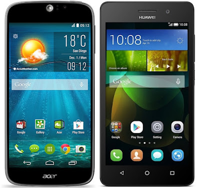 Acer Liquid Jade S vs Huawei G Play Mini