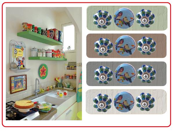 Une cuisine boh me color e - Boutons de meubles de cuisine ...