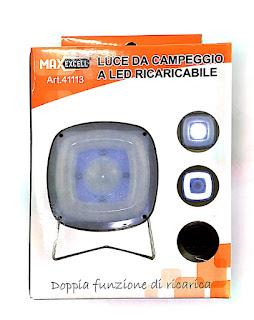 faretto led luce solare campeggio ricaricabile maxexcell