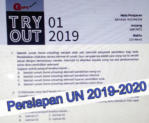 Soal Try Out Kelas 9 Bahasa Indonesia Edisi 2019 2020 Info Pendidikan Terbaru