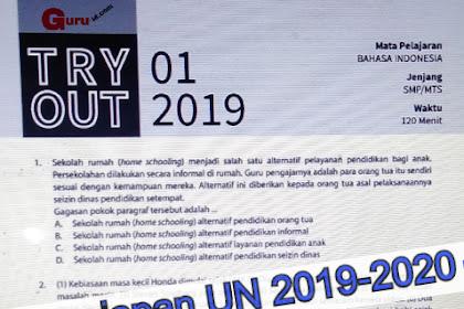 Soal try out kelas 9 bahasa indonesia Edisi 2019-2020