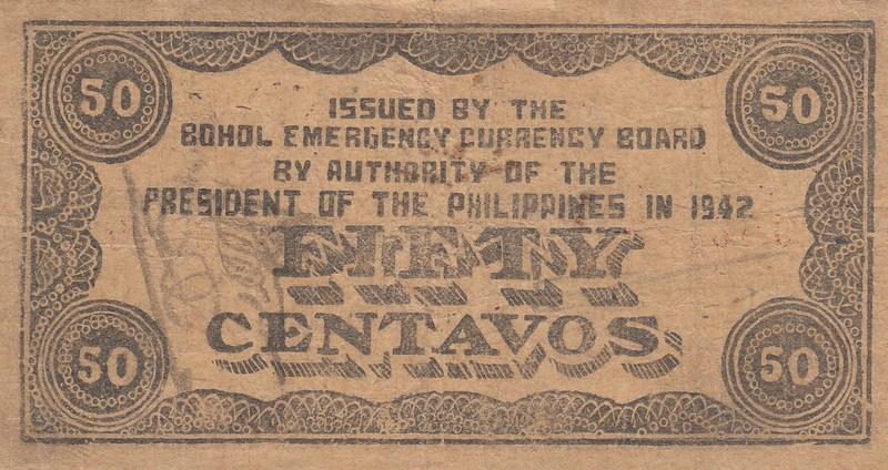 Philippines 10 Centavos 1942 P-S592 Mountain Provinc Emergency WW II  Board Cir