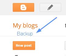 back up file of blog