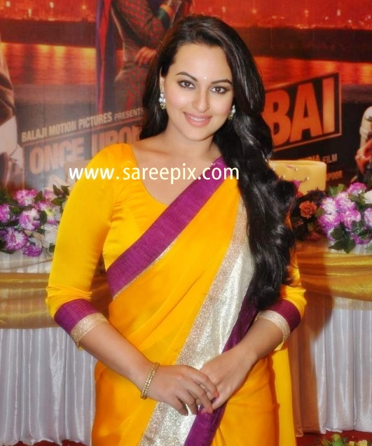 Sonakshi Sinha In Saree On The Sets Of CID Serial