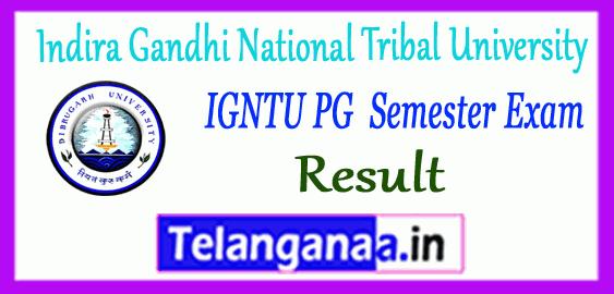 Indira Gandhi National Tribal University Pg Result