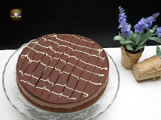 Tarta de Queso y Chocolate sobre Galleta SIN HORNO