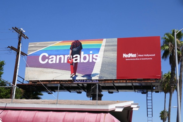 MedMen Cannabis WEHO rainbow billboard