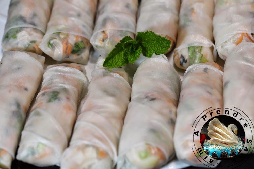 Rouleaux de printemps aux crevettes à la vietnamienne