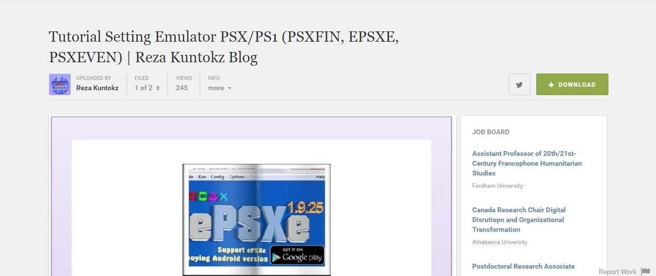 Tutorial Emulator PSX(ePSXe, PSXFIN, PSXEVEN) Lengkap