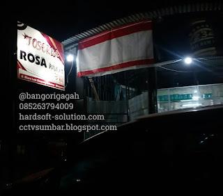 Penambahan dan upgrade CCTV Online di ROSA MART - Biaro Lasi Agam