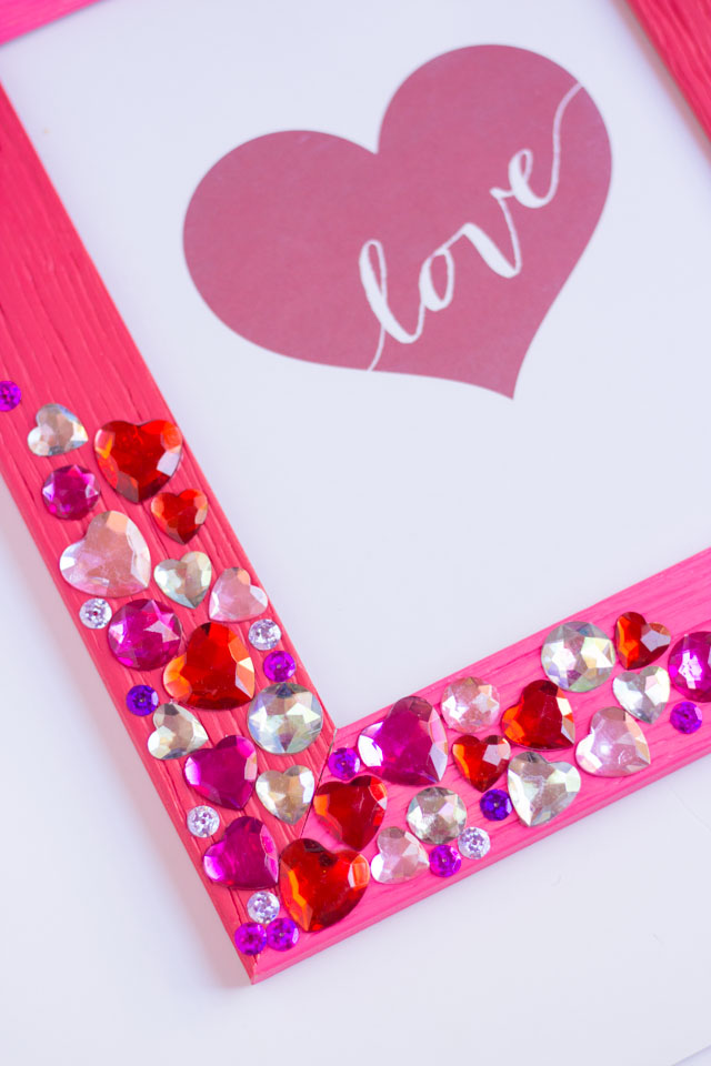 Diy Valentine Jewel Picture Frame Design Improvised