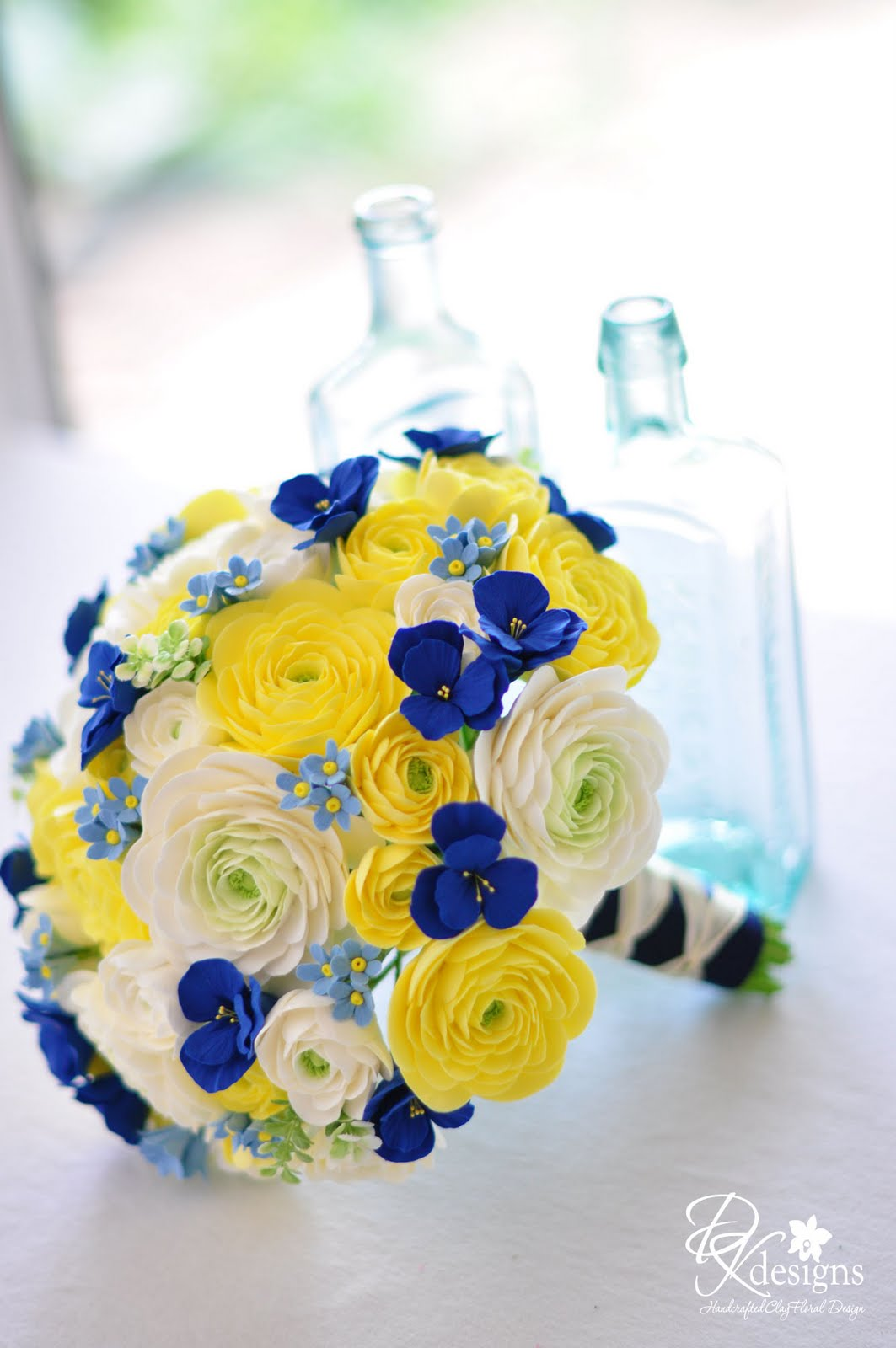 Blue And Yellow Bathroom Decor: DK Designs: Butter Yellow, Ivory And Blues