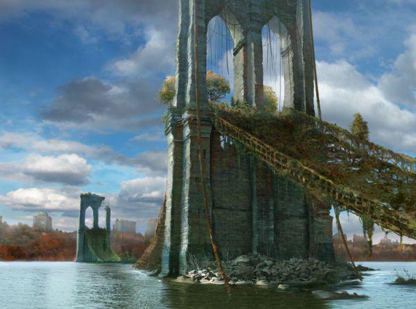 puente de nueva york destruido