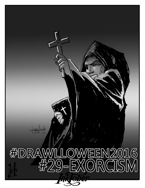 exorcism-drawlloween-inktober-lucyowlart