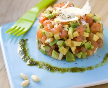 Tomato and avocado tartar